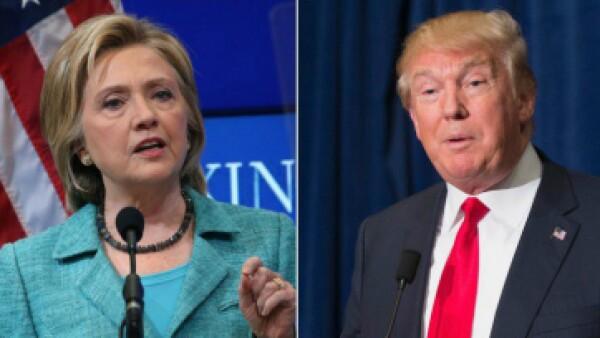 Hillary Clinton y Donald Trump llegan con grandes ventajas frente a sus respectivos competidores. (Foto: AFP/Getty Images)