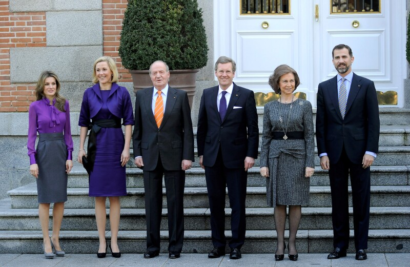 Spanish Royals Meet President of Germany Christian Wulff