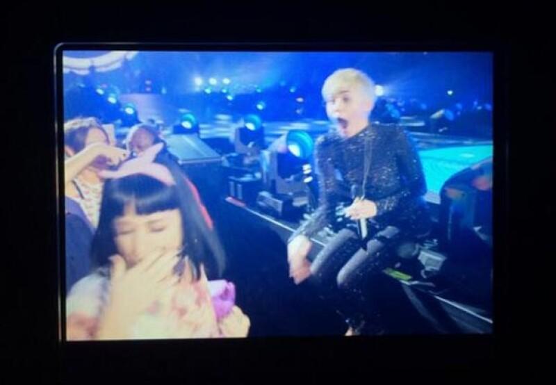 Katy Perry presumió orgullosa esta fotografía del instante posterior al beso.