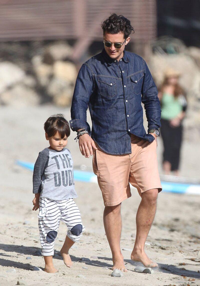 Flynn, de cuatro años, ya es todo un niño grande.
