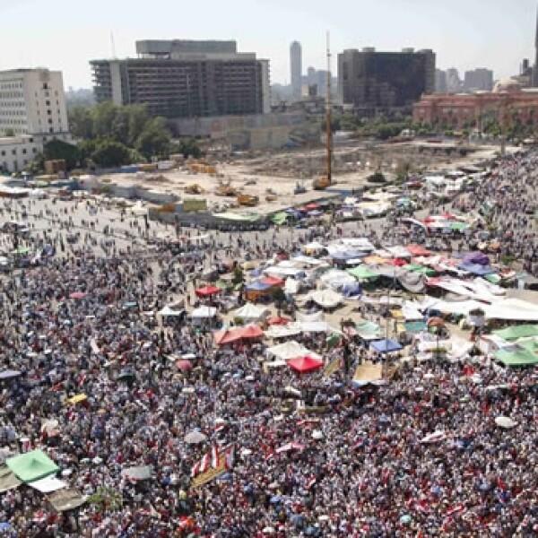Egipcios se manifiestan tras conocer los resultados electorales