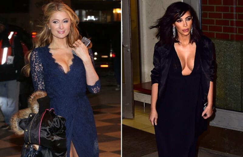 Durante el fin de semana ambas famosas fueron captadas en Nueva York portando oufits que mostraron lo mejor de sus atributos frontales. ¿Quién lo lució mejor?