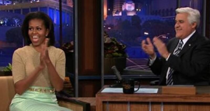 La primera dama acudió al programa de Jay Leno.