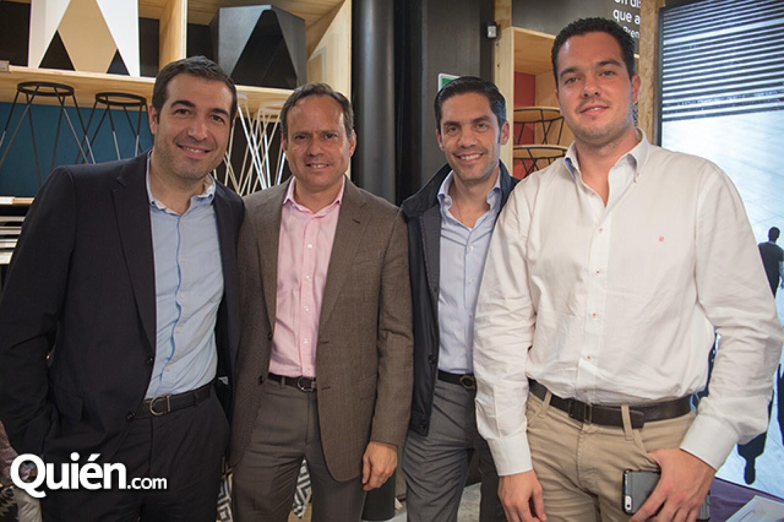 Pablo Guzzo, Guillermo Buitano, Rodrigo Besoy y Santiago Zapata