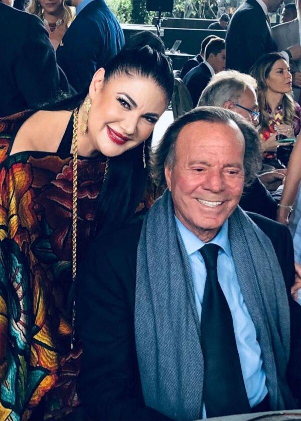 Alejandra Ávalos y Julio Iglesias