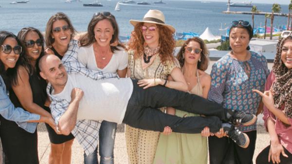 Mujeres en Cannes.