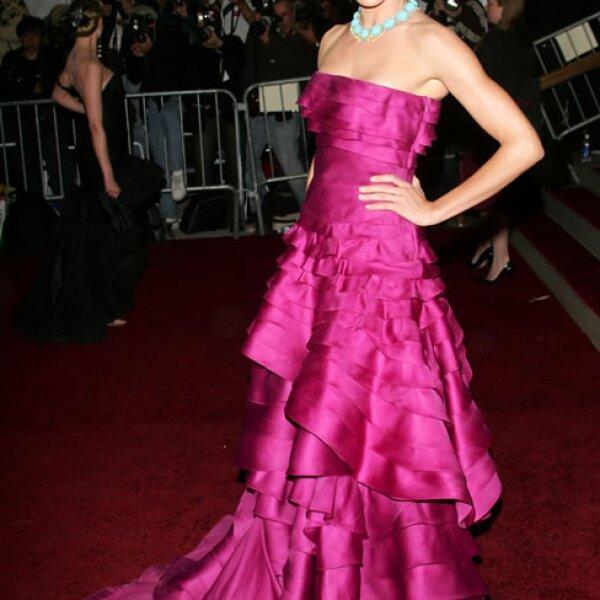 La actriz Cameron Diaz en la Gala del Met del 2007.