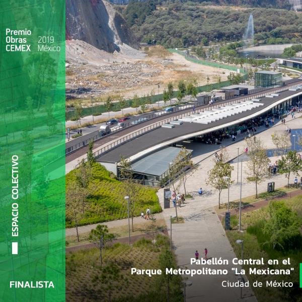 Pabellón Central en el Parque Metropolitano La Mexicana