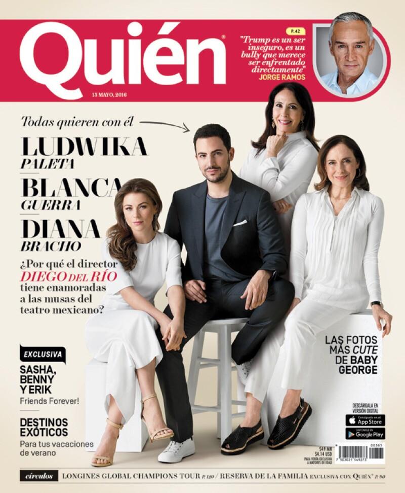 En pleno boom del teatro, averiguamos por qué las grandes musas de los escenarios como Ludwika Paleta, Diana Bracho o Blanca Guerra se confiesan enamoradas del director del momento, Diego del Río.