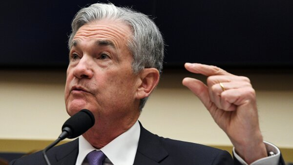 """FILE PHOTO:    Federal Reserve Chairman Jerome Powell testifies before a House Financial Services Committee hearing on the """"Semiannual Monetary Policy Report to Congress"""" in Washington"""