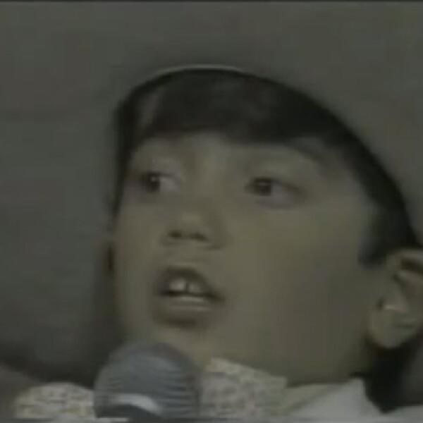 En 1976 cuando interpretó junto a su padre el tema `Alejandra´.