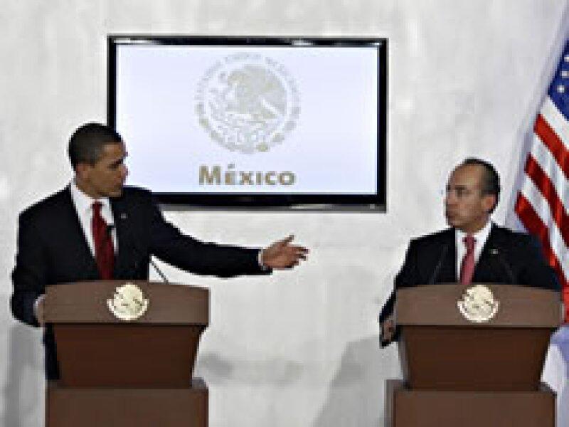 Obama ofreció una conferencia conjunta con Calderón. (Foto: Reuters)