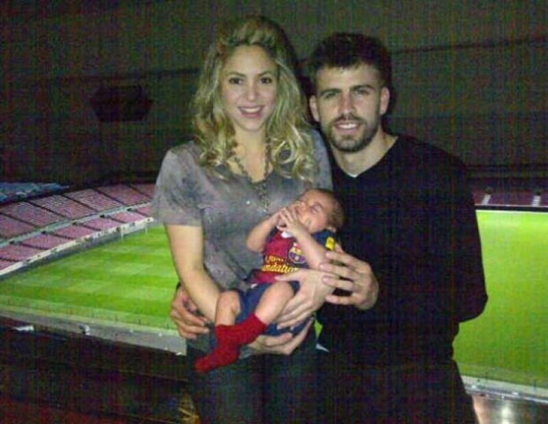 Shakira y Piqué están felices con la llegada de su primer hijo a quien llamaron Milan.