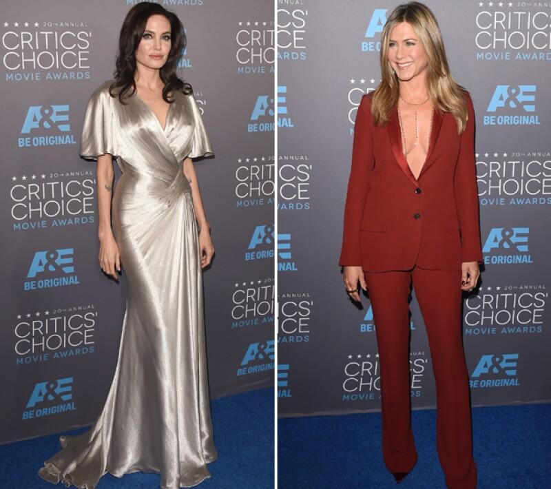 Las actrices, protagonistas del conocido triángulo amoroso con Brad Pitt, cuidaron cada movimiento durante los Critics´ Choice Awards para evitar un encuentro incómodo. Aquí los detalles.