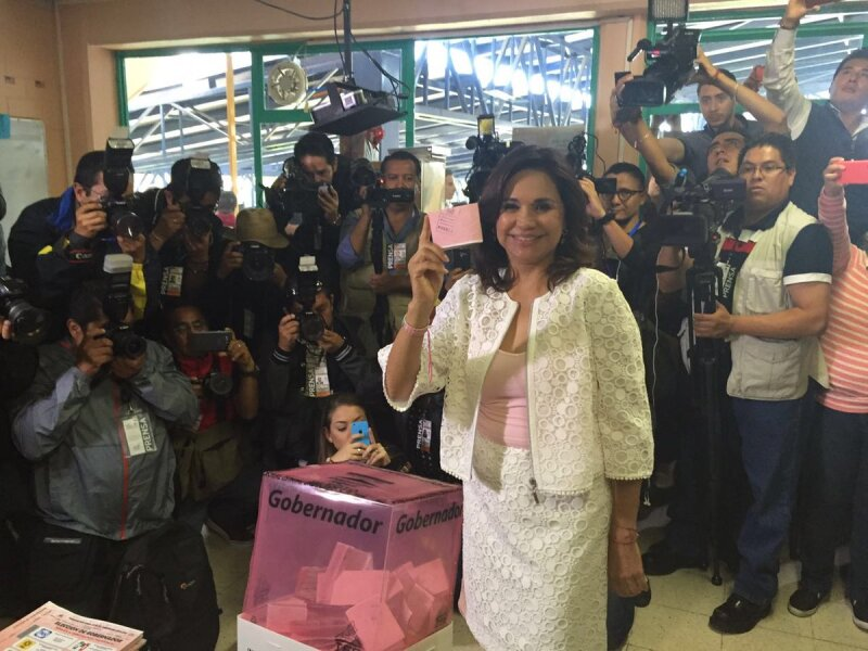 La candidata del PRI en Puebla denunció operativos durante la madrugada de este domingo, para amedrentar a priistas.