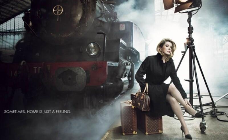 Louis Vuitton la buscó para hacer uno de los anuncios emblemáticos de la firma.