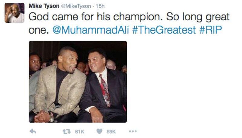 Mike Tyson se despidió de él en Twitter.