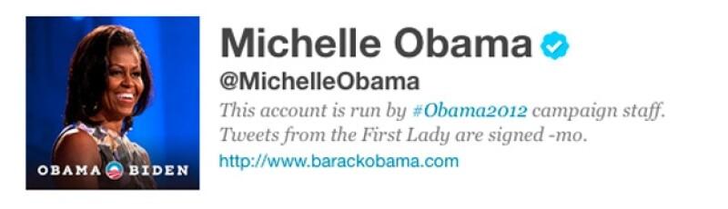 En pocas horas Michelle Obama obtuvo más de 100 mil seguidores.