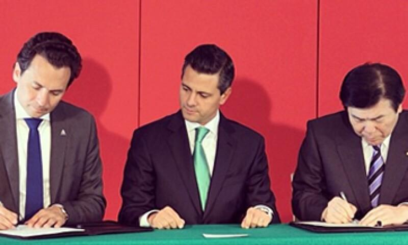 El presidente Enrique Peña Nieto participó en la firma del memorándum. (Foto: Tomada de Presidencia de la República)