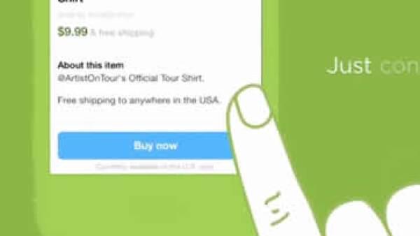 Al tocar el botón en un tuit, el usuario será llevado a una información sobre el envío y el pago. (Foto: Tomada del blog de Twitter)