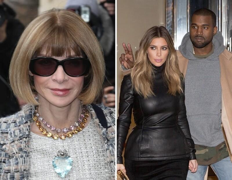 Anna Wintour afirmó que poner a Kim Kardashian y Kanye West en la portada de Vogue del mes de abril fue completamente su idea y defendió su elección con argumentos.