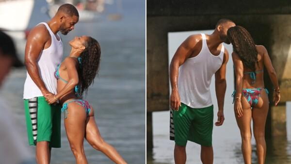La pareja no ocultó el amor que se tienen durante sus más recientes vacaciones, donde también estuvieron acompañados por su hija Willow.