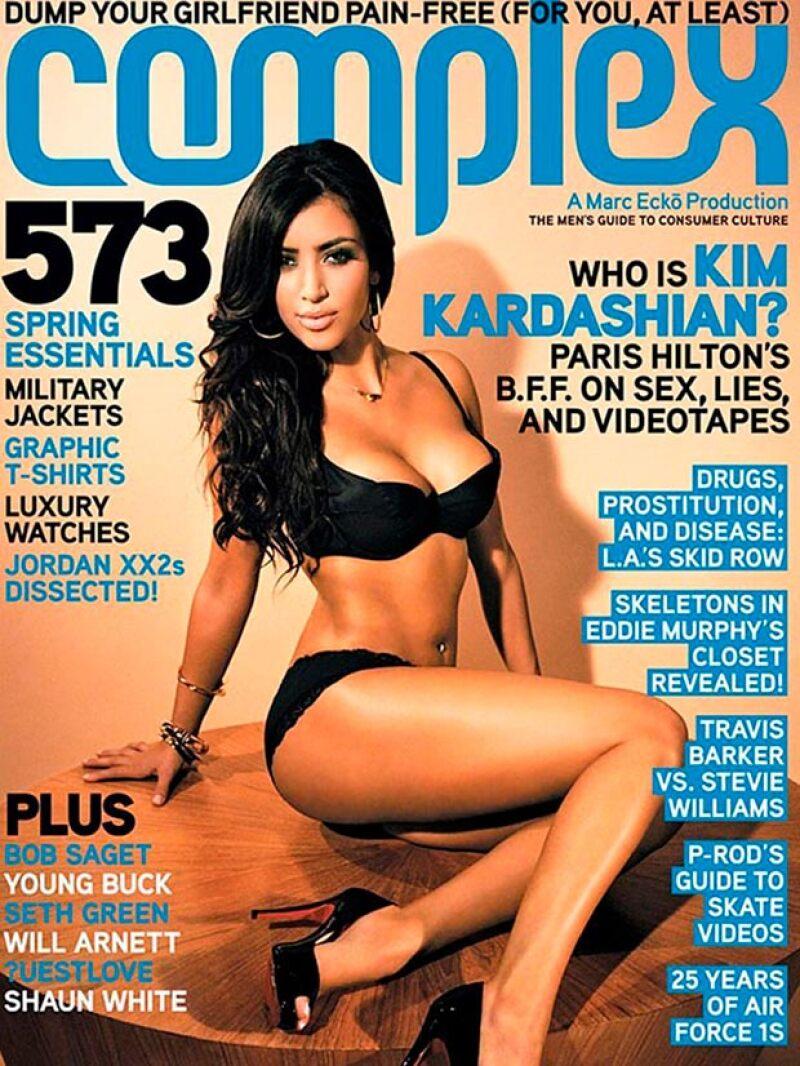 Han pasado casi nueve años desde que la estrella de reality debutó como cover girl, así lucía en 2007.