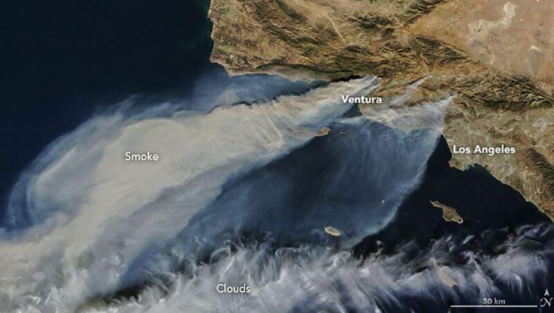 El satélite Terra captó esta imagen