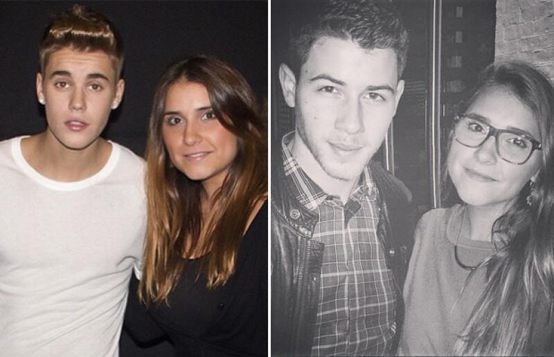 Con estrellas internacionales: Justin Bieber y Nick Jonas.