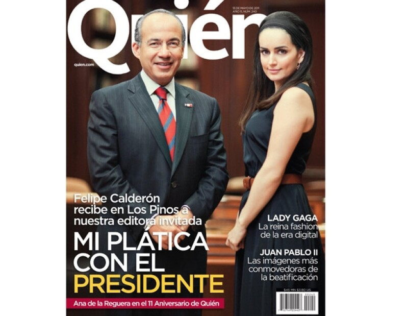 Felipe Calderón y Ana de la Reguera dijeron ¡whisky!