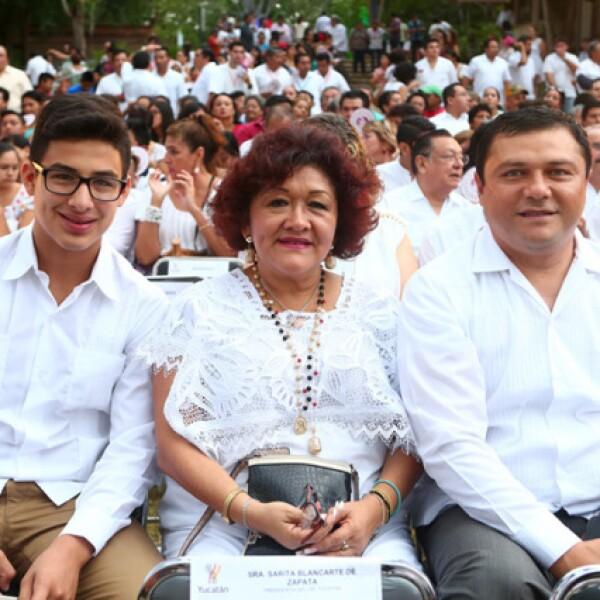 Fidel Díaz, Flor Díaz y José Castillo