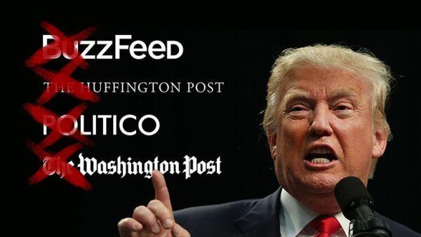 La lista negra de organizaciones de noticias de Donald Trump está en aumento.