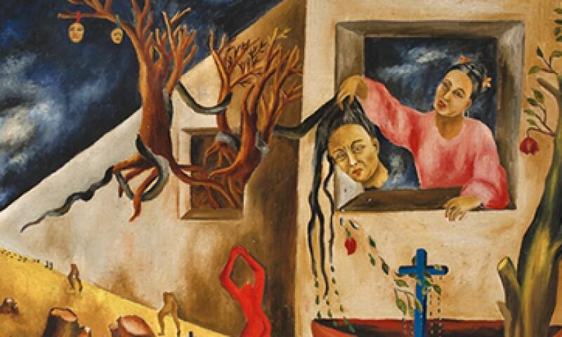 Dos cuadros de María Izquierdo quedaron en la reserva del lote de Zambrano. (Foto: tomada de Sothebys.com )