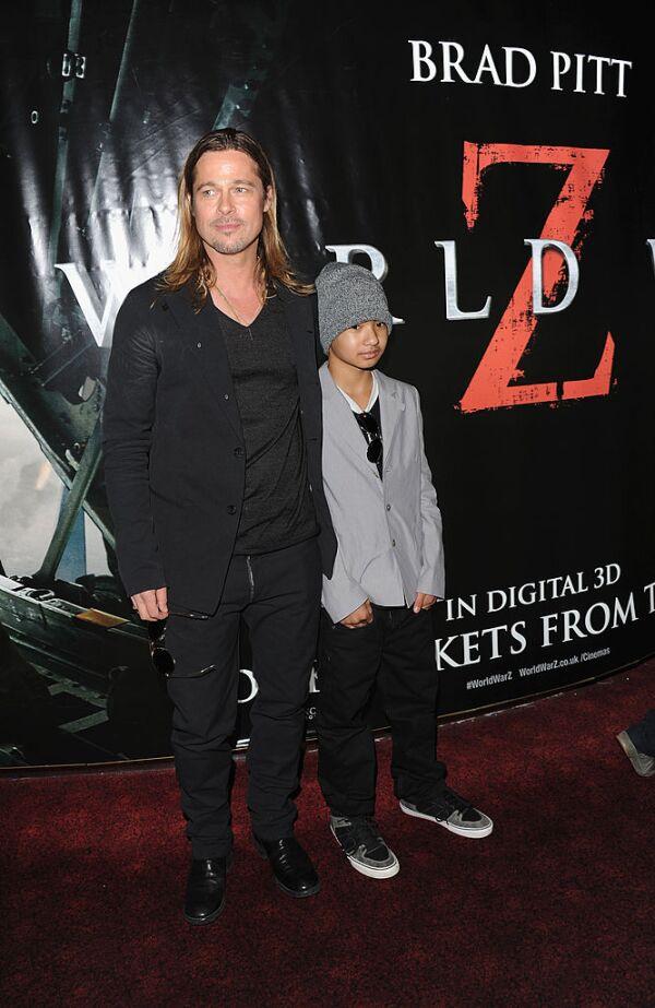 Brad Pitt y Maddox Jolie-Pitt