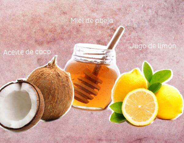 Mascarilla de miel y limón para limpiar la piel.