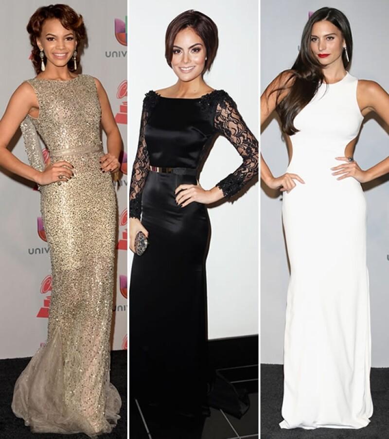 Leslie, Ximena y Génesis fueron las mejor vestidas de la noche.