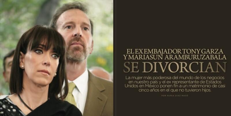 La mujer más poderosa del mundo de los negocios en nuestro país y el ex embajador de Estados Unidos en México ponen fin a un matrimonio de casi cinco años.