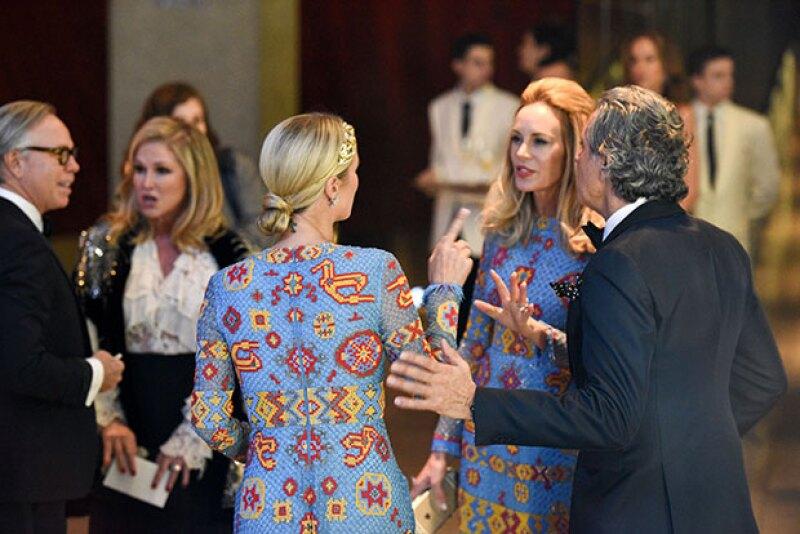 Seguro la heredera del imperio hotelero se llevó el bochorno de su vida cuando se presentó a un evento de Valentino con el mismo vestido que la esposa de Tommy Hilfiger.