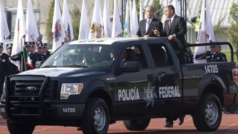 Felipe Calderon y genaro garcia luna policia federal