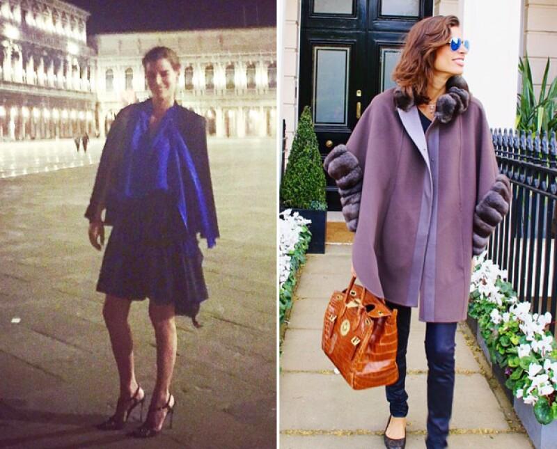 Antes de llegar a Venecia, Bárbara pasó unos días en el pintoresco Londres.