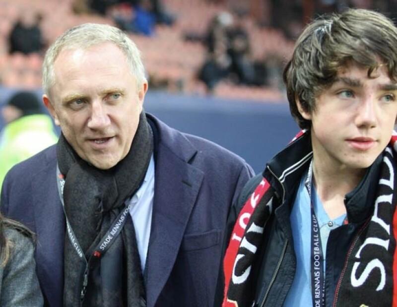 François-Henri Pinault con su hijo mayor quien lleva su mismo nombre.