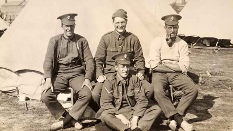 Soldados Britanicos en la Primera Guerra Mundial