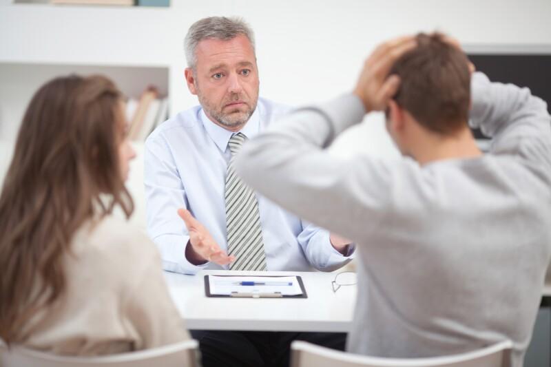 Negociador empresarial en una crisis