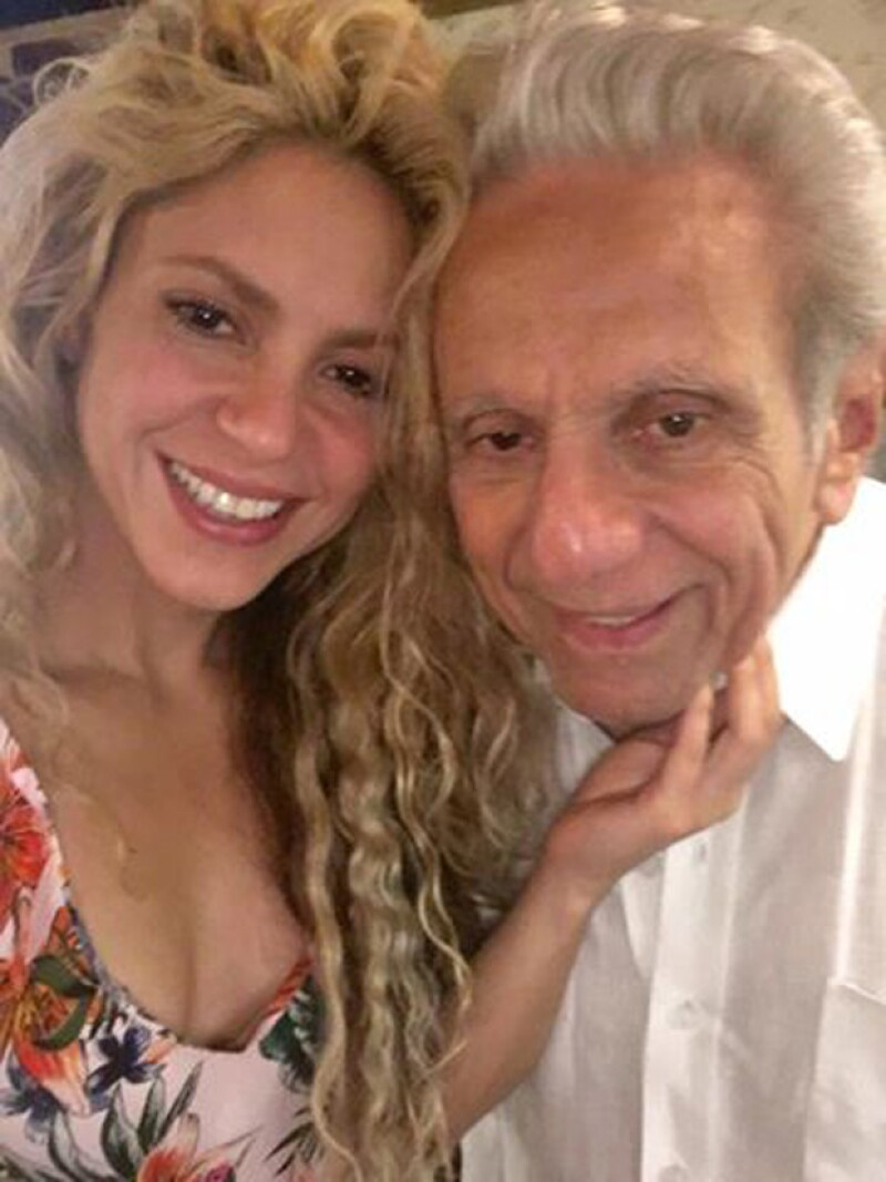 Shakira con su papá, William Mebarak.