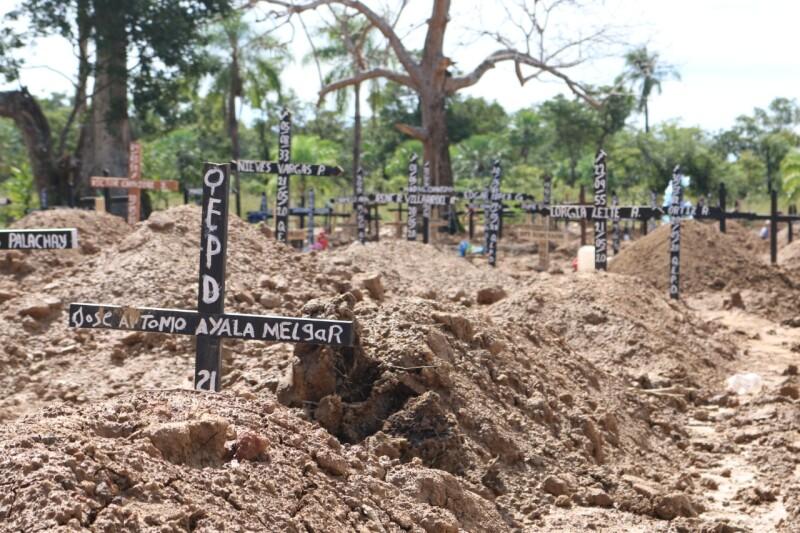 Beni es el segundo departamento de Bolivia más golpeado por la pandemia después de Santa Cruz, a pesar de ser uno de los menos poblados del país con medio millón de habitantes. Crédito: Ricardo Gutiérrez