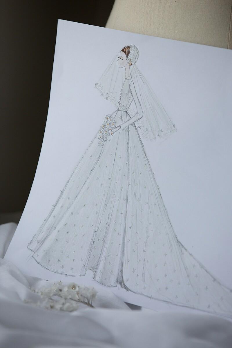 Lo que hubo detrás del vestido de novia de Miranda Kerr