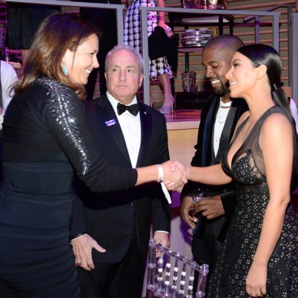 Lorne Michaels, Kanye West y Kim Kardashian West.