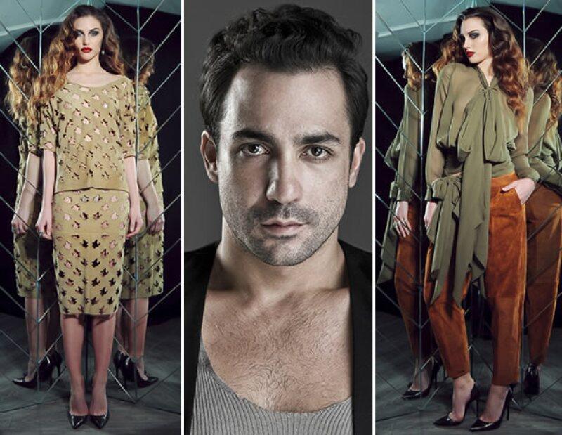 El diseño del mexicano Alejandro Carlín fue elegido como el primer look de Angélica Rivera. / Parte de la colección otoño-invierno 2015 inspirada en México.