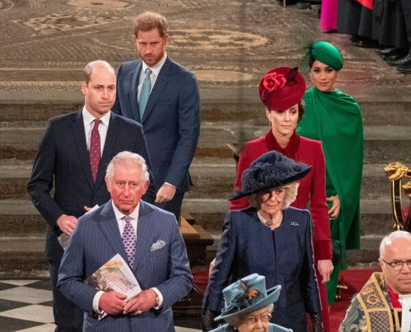 Príncipe Harry, Meghan Markle, príncipe William, Kate Middleton, príncipe Carlos y Camila
