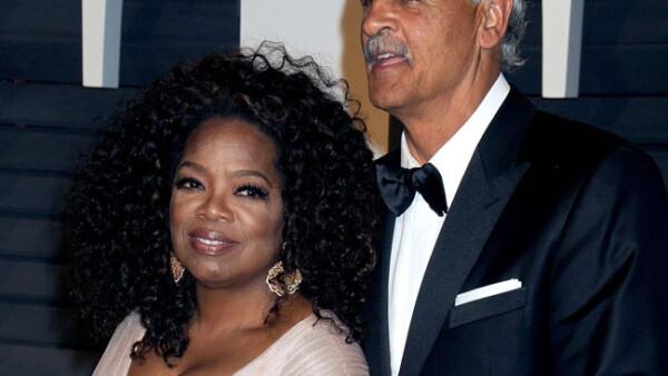 Oprah Winfrey y Stedman Graham.